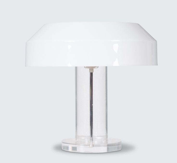 ABN TABLE LAMP BY ALDO VAN DEN NIEUWELAAR, 1970S line Stunning plexiglass based lamp by renowned Dutch designer Aldo van den Nieuwelaar. In the 1970s, Aldo van den Nieuwelaar was commissioned by ABN Bank to design a table lamp.