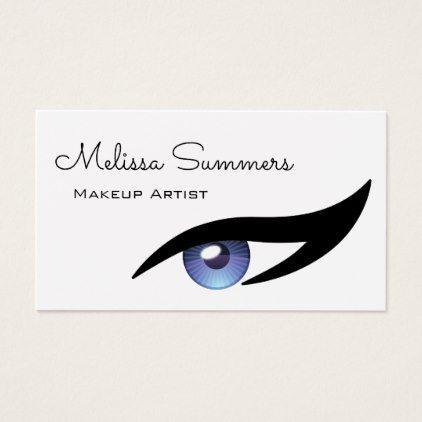 Modern Elegant Makeup Artist Eye Eyeliner Business Card - salon gifts style unique ideas
