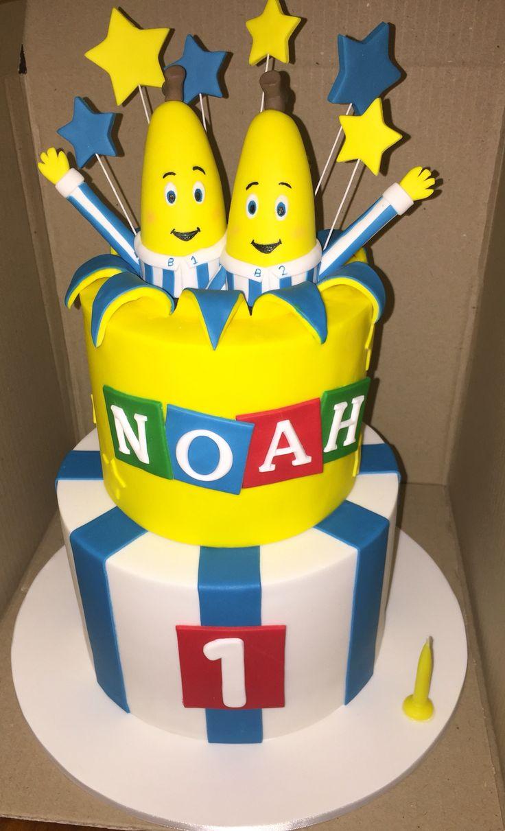 Bananas in Pyjamas theme birthday cake
