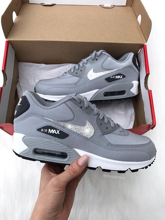 Womens Swarovski Nike Air Max 90 Premium Shoes with Swarovski Crystals 7552b51958