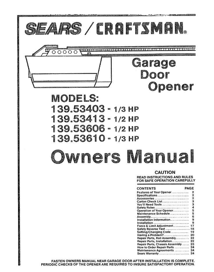 Craftsman   Hp Garage Door Opener Wiring Diagram Regarding