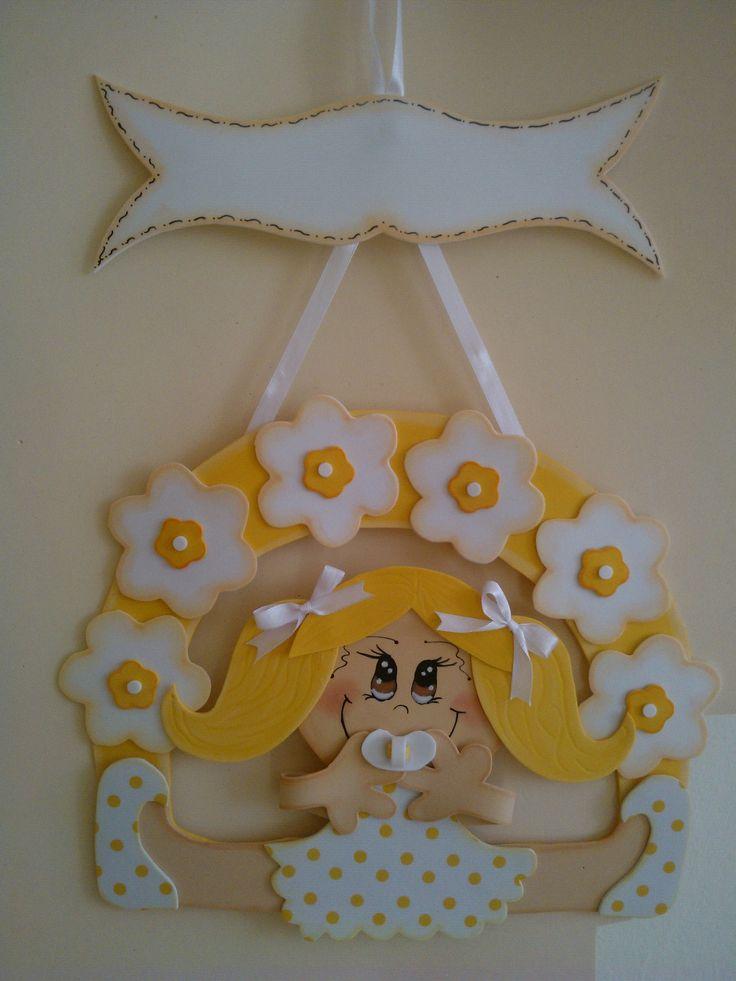 Cartel Goma Eva Bebe Con Chupete Carteles Personalizados