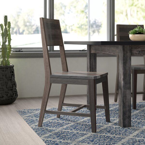 Deck Out Your Dining Room In Rustic Style With This Clean Lined Side Chair Crafted From Reclaimed Pinew Wood Side Chair Solid Wood Dining Chairs Dining Chairs