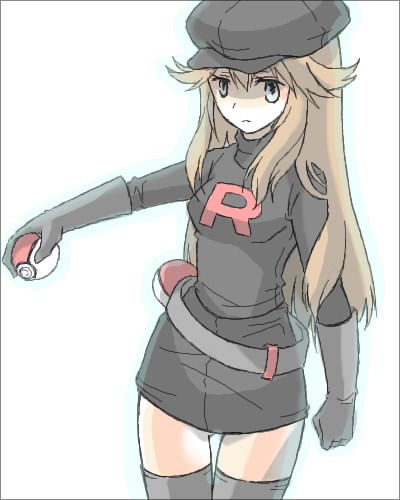 This is Blue, from Pokemon Adventures. She isn't really from Team Rocket.
