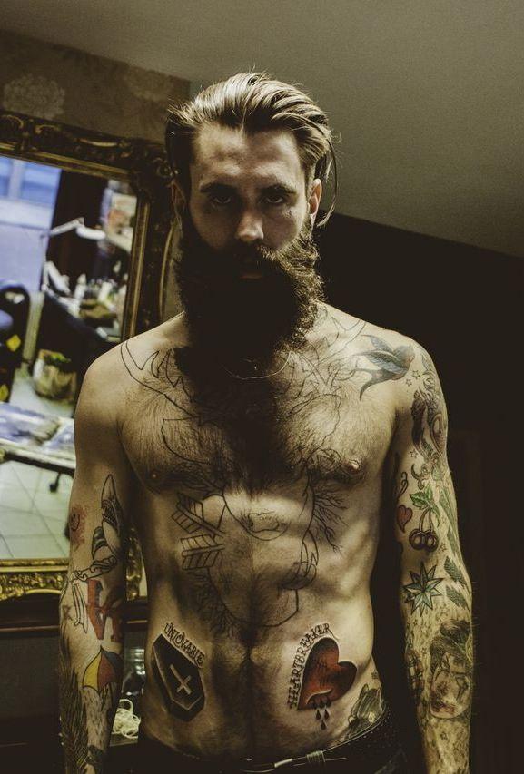 ricki hall beard tattoo men fashion tumblr style boss streetstyle