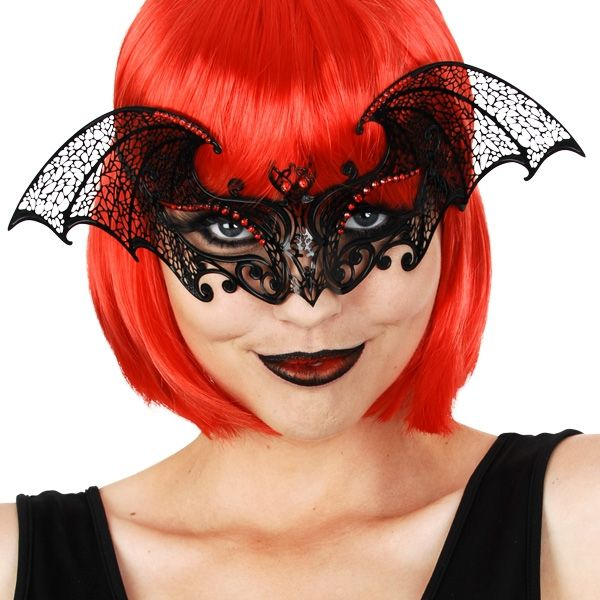 Let's Party With Balloons - BLAIR Bat Black Metal Red Diamantes Eye Mask, $34.00 (http://www.letspartywithballoons.com.au/blair-bat-black-metal-red-diamantes-eye-mask/?page_context=category