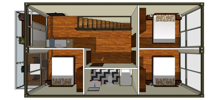 32 ideas 4 bedroom shipping container house plans for 40