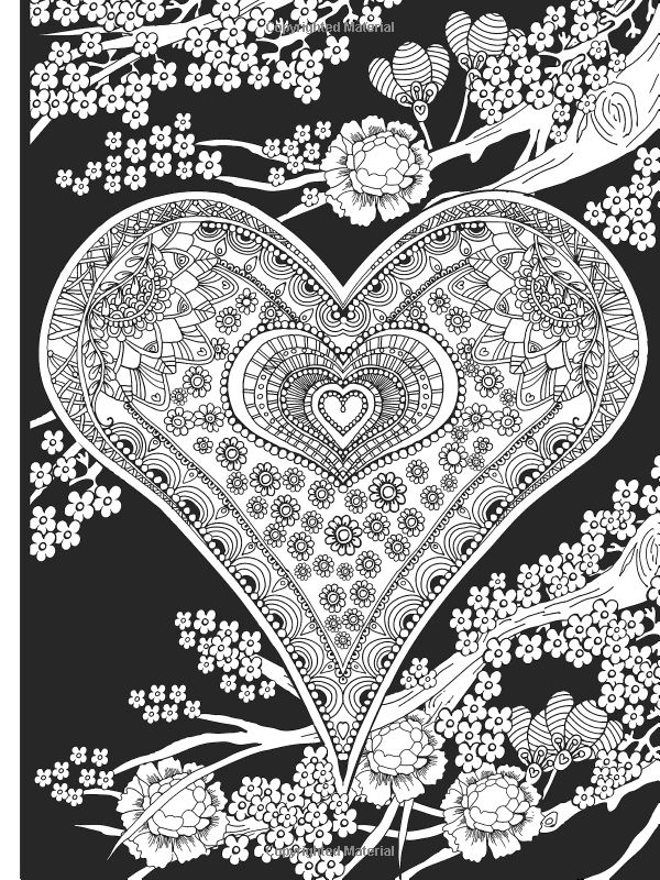 238 best Hearts \ Love Coloring Pages images on Pinterest Coloring - copy coloring pages with hearts and flowers