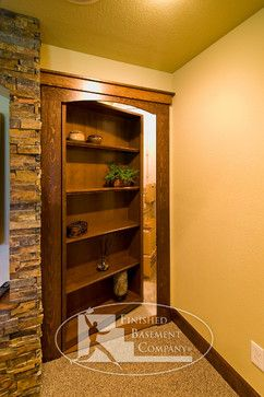 Basement Hidden Storage - I've always wanted a secret room in my house.  That or a bat cave!  :)