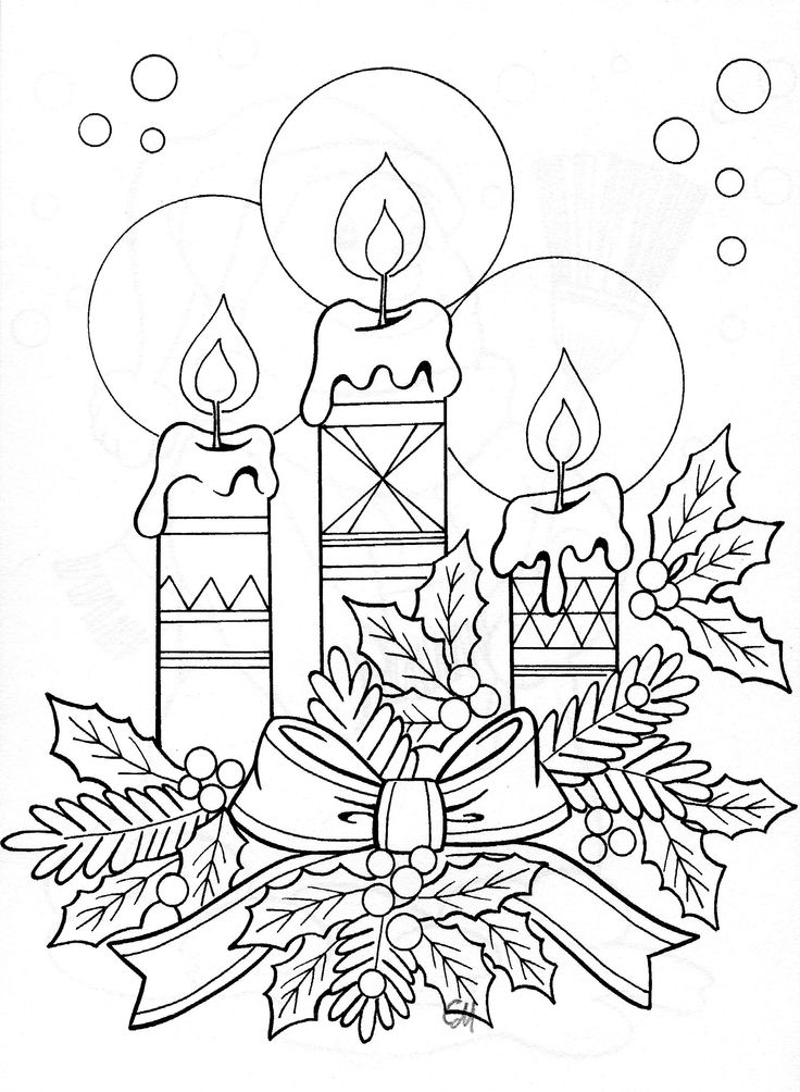 DRAWING OF CANDLE ARRANGEMENT