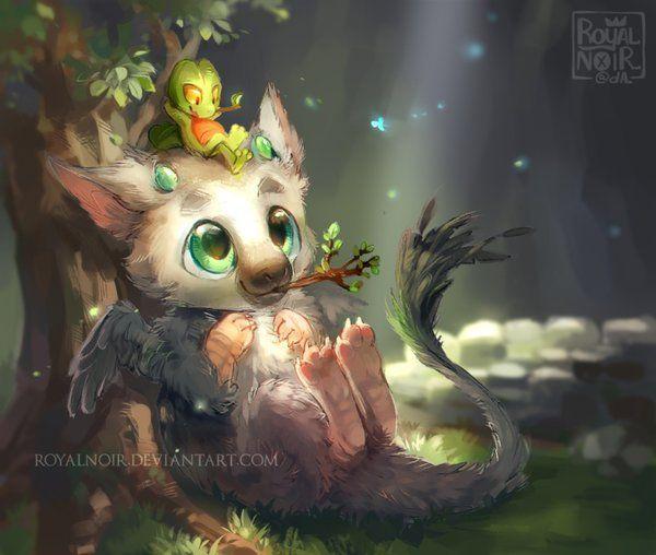 Trico And Treecko By Royalnoir Fandom Stuff Pinterest