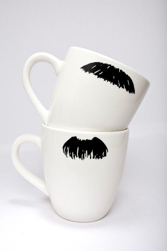 Moustache Mugs!