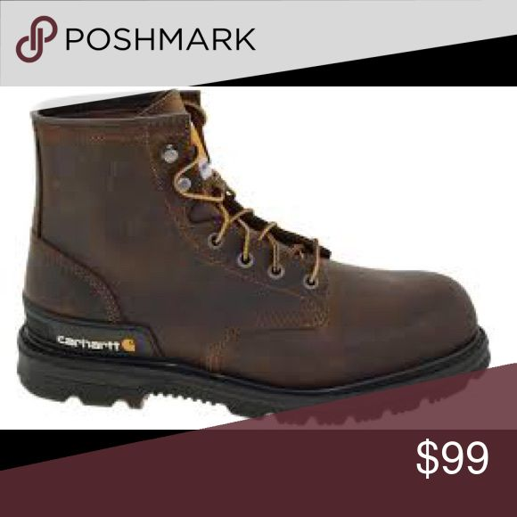"""Carhartt Men's Boots CMU6242 6"""" Safety Toe Boot Carhartt Men's Boots CMU6242 6"""" Dark Brown Unlined Safety Toe Work Boot (All sizes are """"M"""" width) - Consists of safety toe, slip resistant sole, dark brown oil tanned leather, cushioned insoles, and heel stabilizer for your ankles. Carhartt Shoes Boots"""