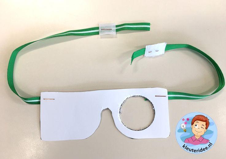 testbril GGD - schoolarts maken, thema het oog, kleuteridee 2.