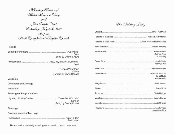 Contact Support Program template, Printable wedding
