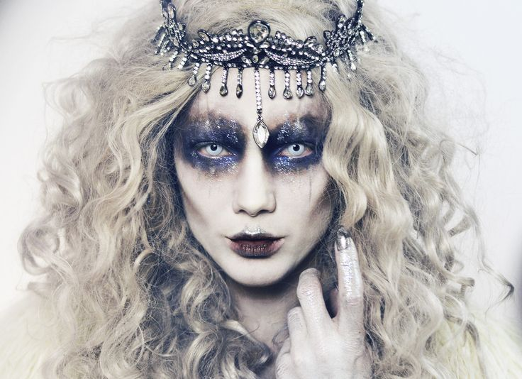 Make de Halloween, Evil Ice Queen, por Linda Hallberg