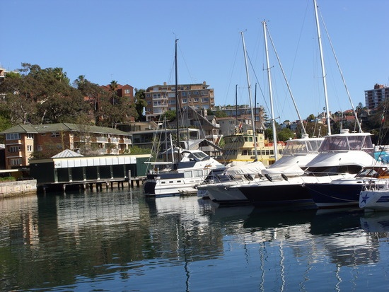 my last address...mosman bay...you can see my flat in the background!