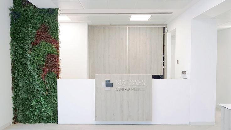 Jardín Vertical Artificial para centro medico. Jardineria Ramal