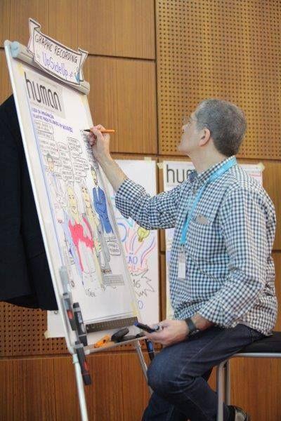Graphic Recording - UpSideUp no I Forum de Líderes em 2016. Daniel Lança Perdigão em ação!