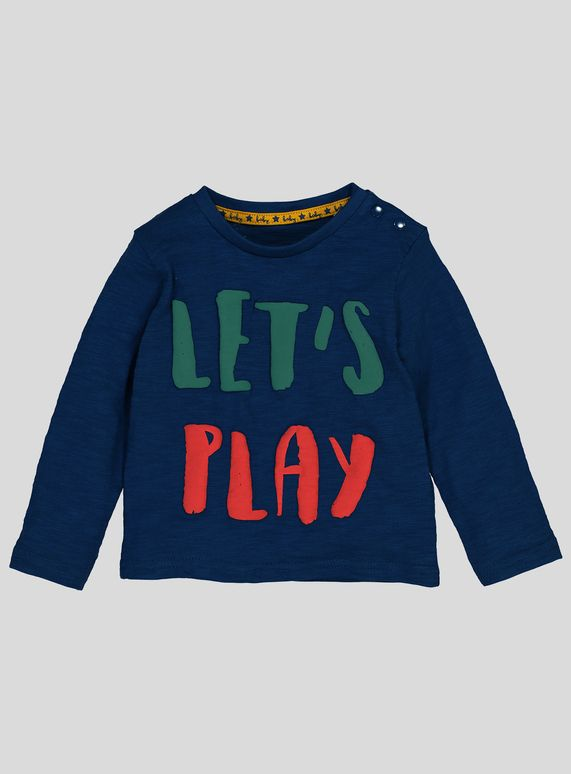 18ace2a45 Multicoloured  Let s Play  Slogan T-Shirt (0-24 Months ...
