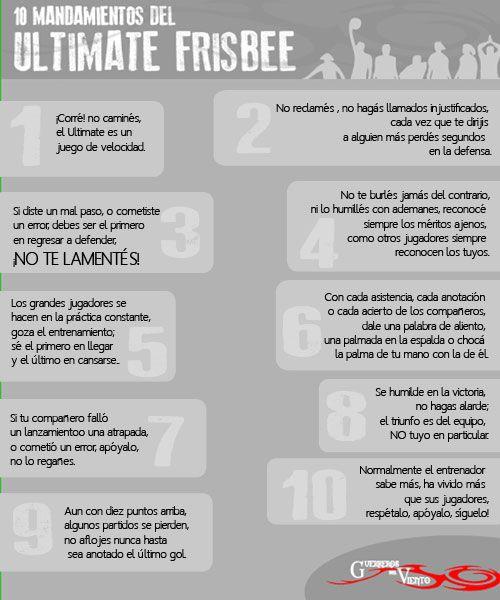 10 Mandamientos del #UltimateFrisbee #GuerrerosdelViento #Cali #Deportes #EspiritudeJuego