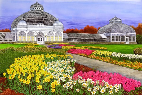 Flowers botanical gardens buffalo ny by thelma winter for Botanical garden timing