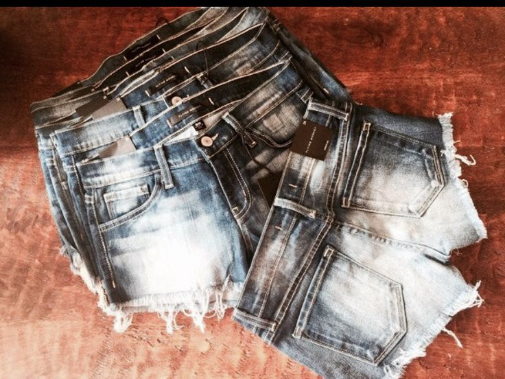 Loving these Flying Monkey Jean shorts! They go with everything! Go to www.thetickledpinkboutique.com