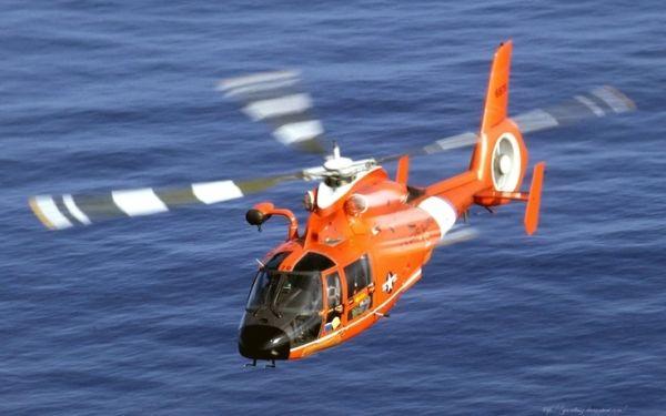 Helicóptero HH-65 Dolphin Guarda Costeira dos EUA por Sherrie