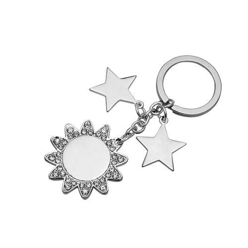 Portachiavi personalizzabile con strass, economico ed elegante! Ottima idea regalo. http://www.ibiscusgadget.it/prodotto/universe/