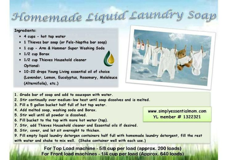 how to add scent to homemade laundry detergent
