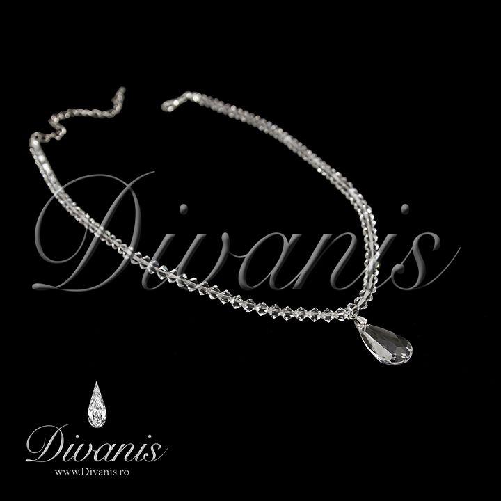 Dissa Necklace with Swarovski crystals http://www.divanis.ro/colier-dissa.html