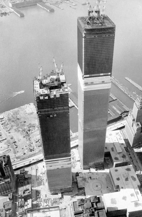 Twin Towers c.1971, New York City #arquitectura #rascacielos #construccion