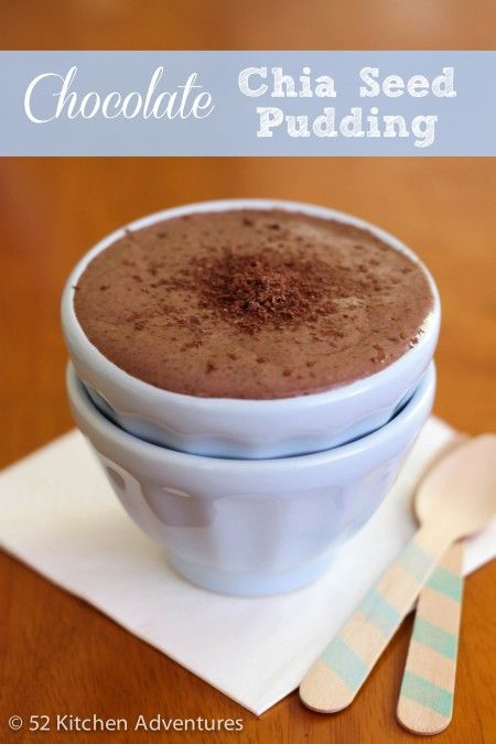 Chocolate Chia Pudding - could be raw with almond milk or fresh coconut milk.