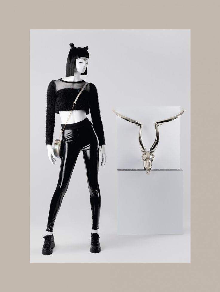 FUSION Collection by More Mannequins #FemaleMannequins #mask #bijoux #horns #latex #facesticker