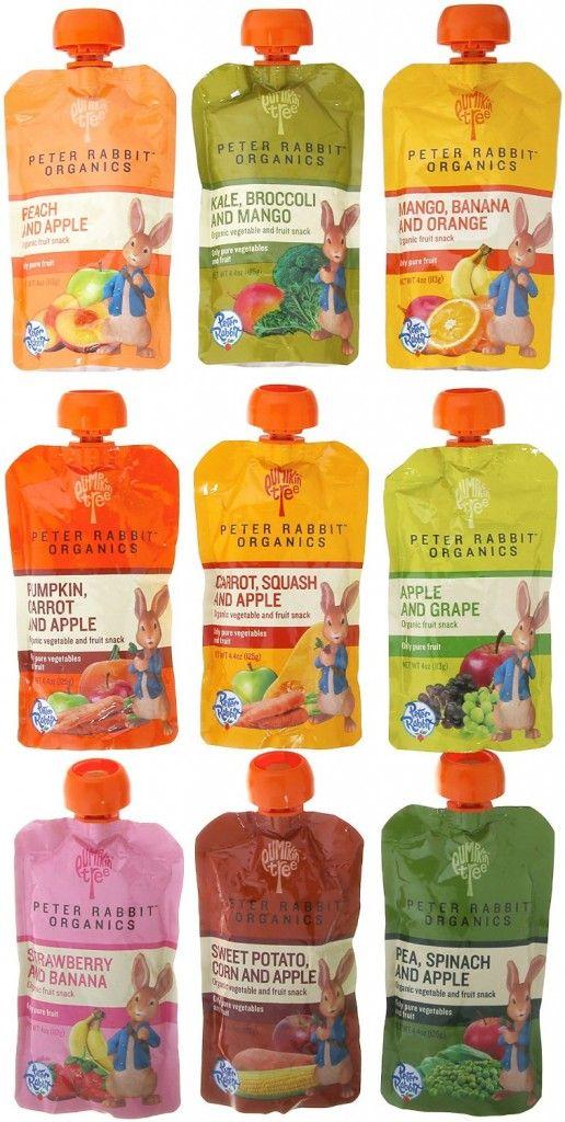 Peter Rabbit Organics 100% Pure Baby Food 10 Flavor Variety