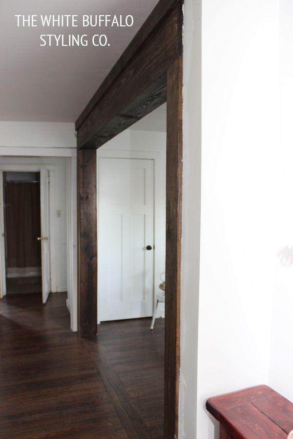 faux-beams made with framing lumber nailed right to structural beams!