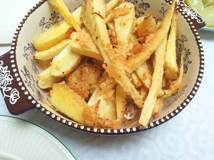 krokante pastinaak frietjes met parmezaanse kaas made by ellen