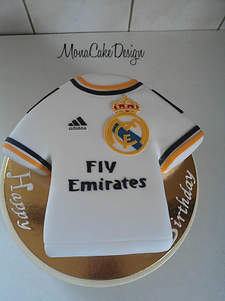 Real Madrid Jersey Cake Monacakedesign Pinterest