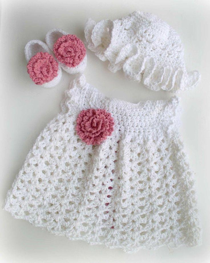 Free Crochet Girls Dress Pattern   Crochet Baby Girl: Baby Dress Crochet