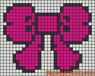 Pink Ribbon perler bead pattern