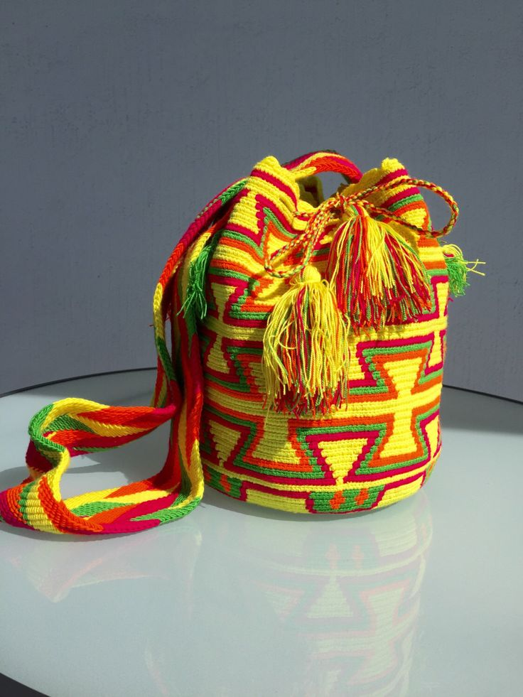 A personal favorite from my Etsy shop https://www.etsy.com/listing/448719158/wayuu-bags-wayuu-mochila-bags-colombian