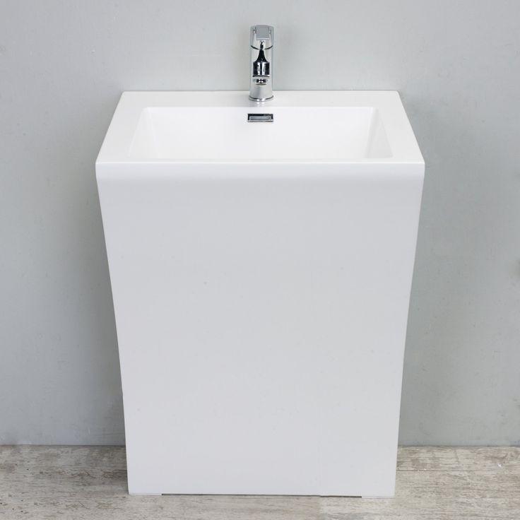 Eviva Numero 24 in. Single Sink Bathroom Vanity - EVSK7-24WH