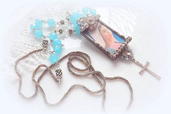 Jewelry  Necklaces  Catholic jewelry  Mix media by AcoyaJewellery