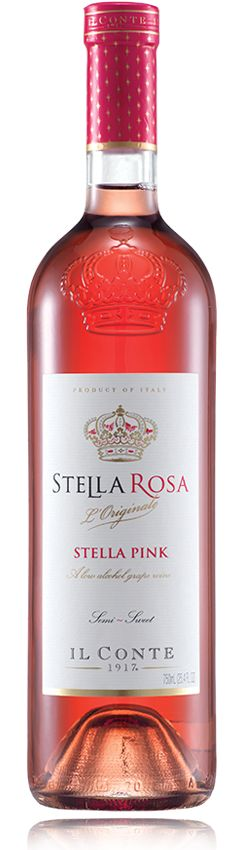 Stella Rosa Pink, the flirt of the bunch!  Fresh, playful, exuberant with fresh peach, honey, and red berry qualities.