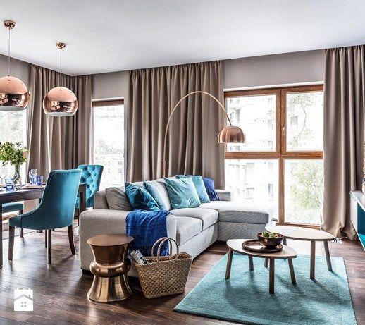 Nadmorski apartament - Salon, styl nowoczesny - zdjęcie od SAS Wnętrza i Kuchnie