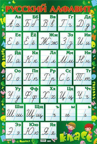 Русский алфавит (прописной). Плакат А2