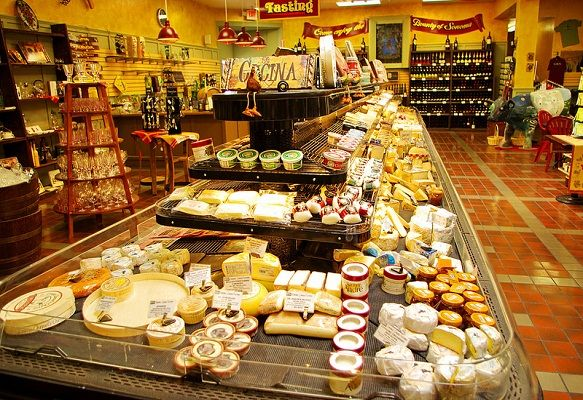 The Sonoma Cheese Factory is a must see while traveling through Napa and Sonoma Valleys. They have the largest cheese tasting bar we have ever seen.!