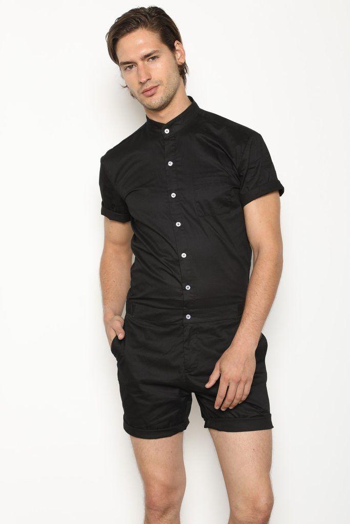 8868b4db591f The Original Male Romper in Black