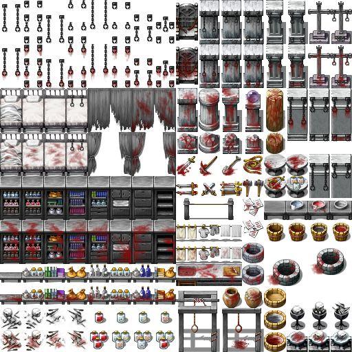 Horror Tiles Rpg Maker Vx Ace Sprites - recyclepast