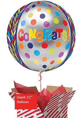 Orbz Dotty Congratulations Balloon